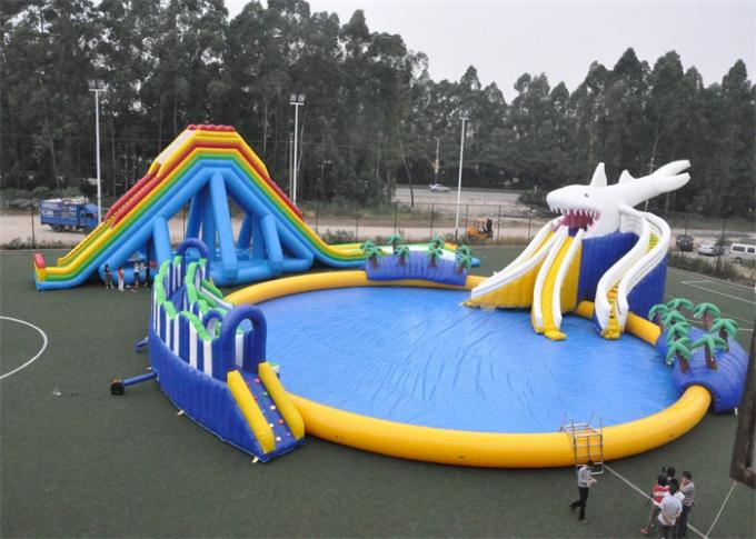 Entertainment Blow Up Games Ultimate Inflatable Water Park / Water Toys For Lake