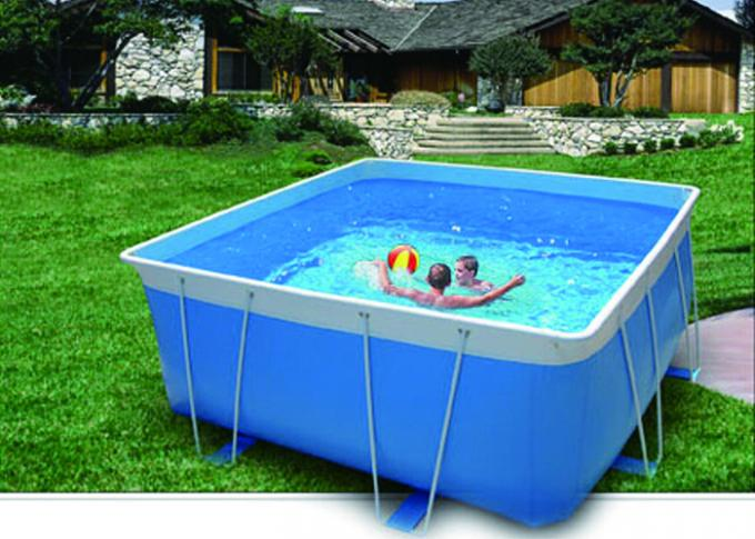 Blue Pvc Steel Frame Metal Pool Easy Set Up Swimming With Accessories