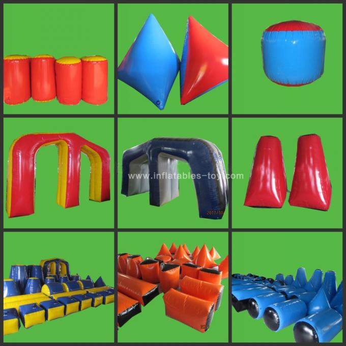 0.9mm PVC Inflatable Air Bunker Shooting Inflatable Sport Games For Playground
