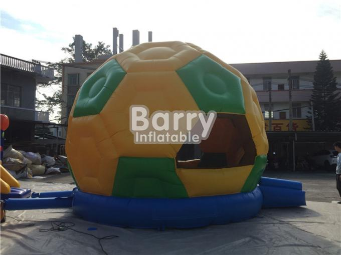 Commercial Inflatable Football Bouncer , PVC Tarpaulin Soccer Blow Up Bounce House
