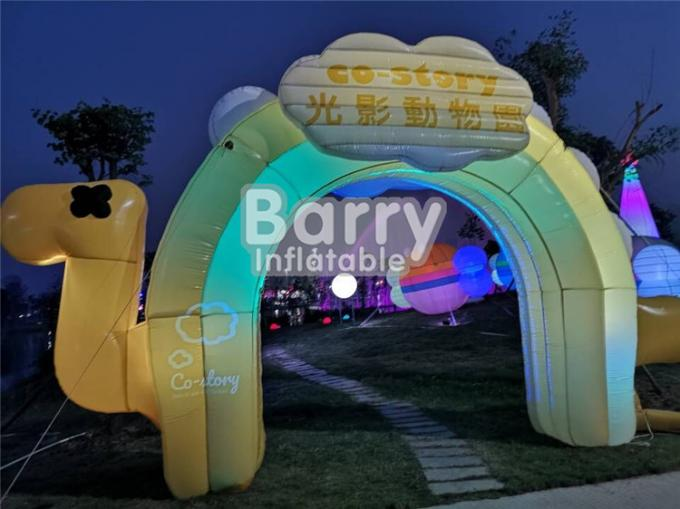 Entrance Colorful Inflatable Advertising Products , LED Advertising Blow Up Arch For Commercial