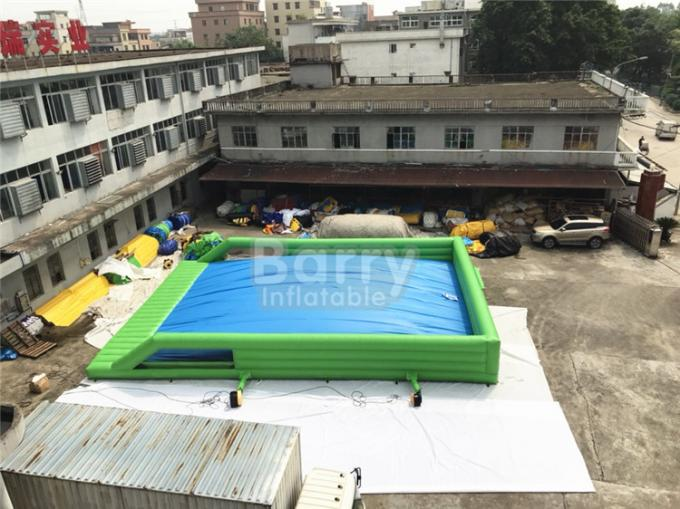 Outdoor Giant Inflatable Water Slide For Event , Tall Drop Kick Water Slide With Platform