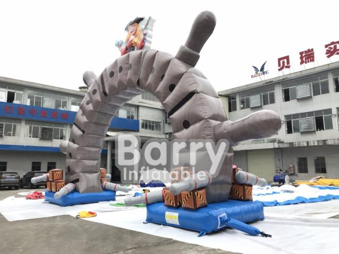 Cartoon Giant Advertising Inflatable Entrance Arch For Promotion Event , Park