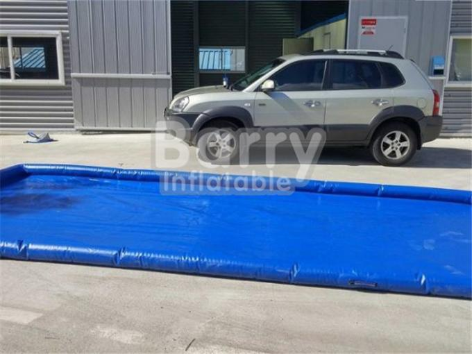 Commercial Air Sealed PVC Inflatable Car Wash Mat Easy Set Up