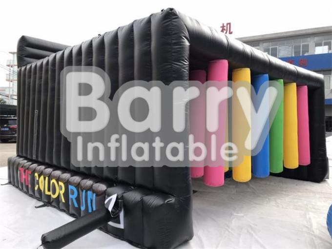 Customized Inflatable Interactive Games With Obstacle Color Run / Inflatable Sports Games