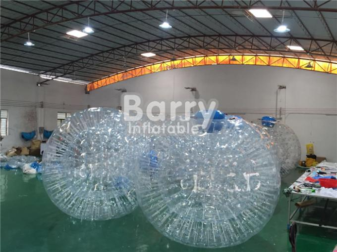 TPU / PVC Inflatable Land Zorb Ball , Clear Body Bumper Zorb Ball
