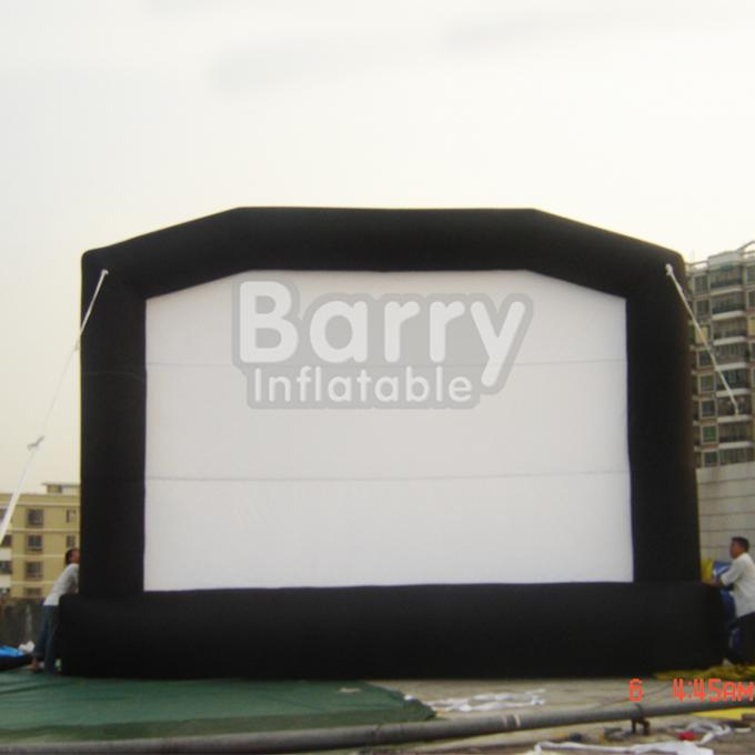 Commercial Black Inflatable Movie Projector Screen For Outdoor Event