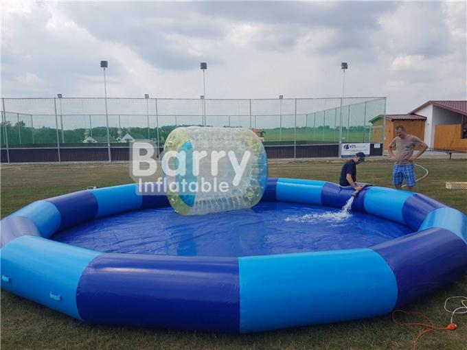 0.9mm PVC Inflatable Swimming Pool / Blow Up Portable Round Water Pool