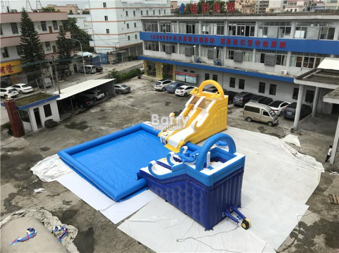Customized Inflatable Water Park Slide With Pool / Kids Inflatable Playground