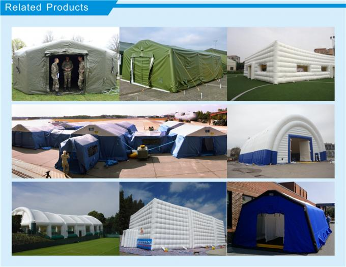 Outdoor Portable Inflatable Emergency First Aid Tent / Inflatable Medical Tent