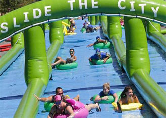 Giant Inflatable Slide Outdoor Inflatable City Water Slide For Adult Amucement supplier