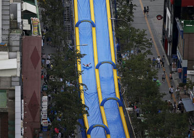 Custom Blue Giant Inflatable Water Slide City Street Event Long Life Span supplier