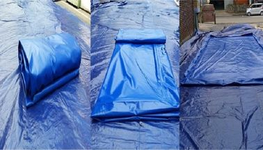 Flexible Blue Car Wash Mats Water Containment Printing Double - Tripple Stitch supplier