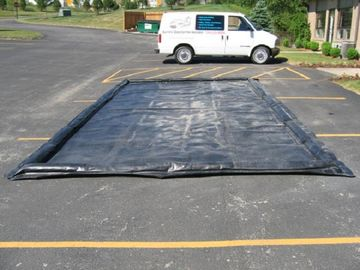 Water Reclamation System Inflatable Car Wash Mat Water Containment Inflatable Wash Pads supplier