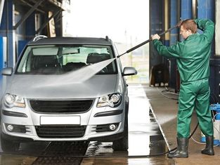 Durable Inflatable Car Wash Mat Easy Set Up With CE / UL Blower supplier