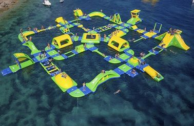 China Customized Floating Indoor Water Park Safety Sporting Capacity 145 People supplier