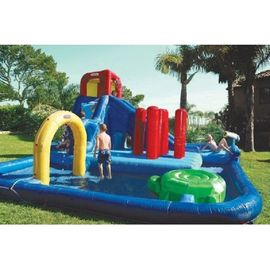China Double Lane Inflatable Water Park , Kids Inflatable Wate Slide supplier