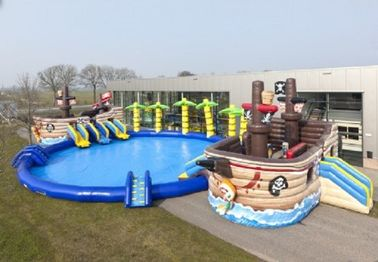 China Priate Bay Inflatable Water Slide Professional Safety For Entertainment supplier