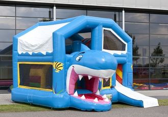China Blue Roof Inflatable Combo WITH Double - Tripple Stitch EN14960 supplier