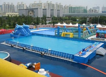 Durable Backyard Ground Metal Frame Pool Blue Inflatable Swimming Pool 0.9 PVC Tarpaulin supplier
