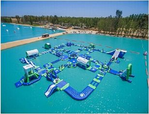 Giant Adult Inflatable Water Park Commercial Inflatable Water Fun For Lake supplier