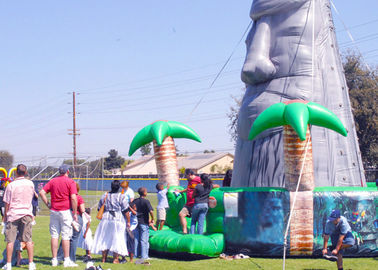 Tiki Island Themed Large 28ft Inflatable Climbing Wall Party Games supplier