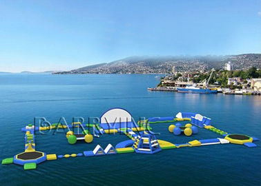 Outdoor Water Waves Water Park Equipment , Inflatable Floating Water Park
