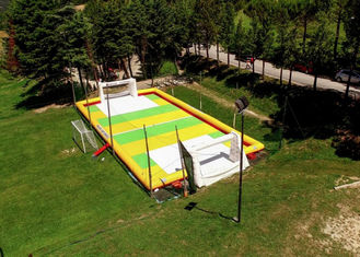Outdoor 12 x 2 x 6m Inflatable Soccer Field / Football Pitch With Air Pump supplier
