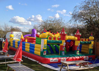 CE Outdoor Inflatable Bouncy Castle With Slide , Commercial Adult Bouncy Castle supplier