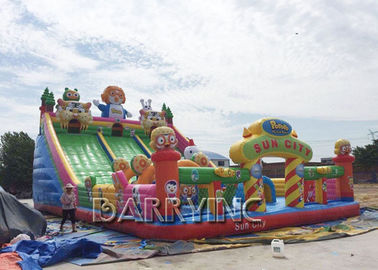 Digital Printing PVC 0.55mm Large Inflatable Slides For Kids / Adult CE supplier