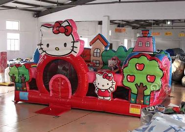 Hello Kitty Inflatable Toddler Playground With Slide , Commercial Adult Bouncy Castle supplier