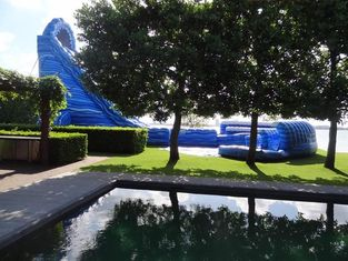 Large Cyclone 32ft Tall Massive Inflatable Water Slides For Big Amusement Park Or Event supplier