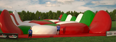 Customized Large Inflatable 5k Run / Inflatable Bouncy Obstacle Course For Summer Event CE Approval supplier
