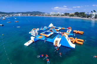 China Giant Adult Giant Blue inflatable sport park For Wake Island ,Water sports equipment For Ocean supplier
