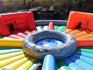 Outdoor Inflatable Interactive Games , Bungees Running Sports Inflatable Hungry Hippo Game supplier