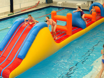 0.9mm PVC Inflatable Aqua Park Inflatable Water Obstacle Course For Kids supplier