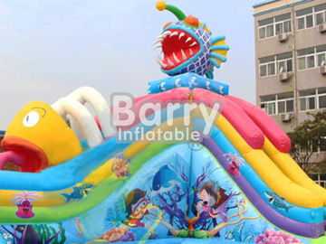 Hot Summer Outdoor Carzy Inflatable Piranha Amusment Park Equipment For Children supplier