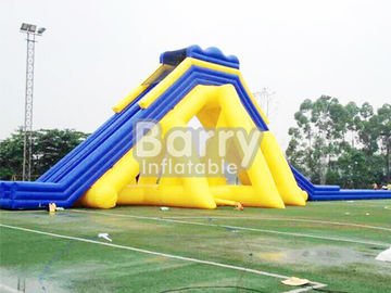 Yellow / Blue Giant Commercial Inflatable Slide / Adult Inflatable Slide supplier