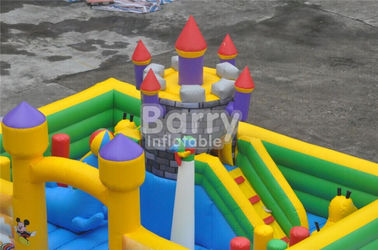 Inflatable Fun City Castle Themed Amusement Park Inflatable Playground Equipment supplier