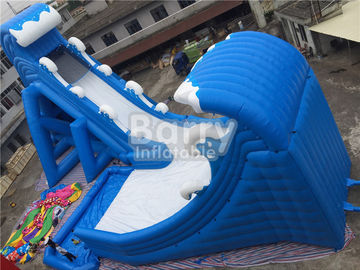 Blue Wave 36 * 20 * 15m Giant Inflatable Water Slide With Pool CE/UL Blower supplier