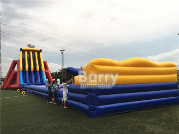 China EN14960 0.5mm PVC Giant Inflatable Slide 0.55mm / 18 Oz PVC Tarpaulin Durable supplier