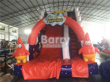 China Professional Spongebob Commercial Inflatable Slide Fireproof For Kids Playground supplier