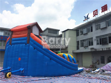 House Shaped Slide Portable Inflatable Water Park Aquapark For Outdoor Ground supplier