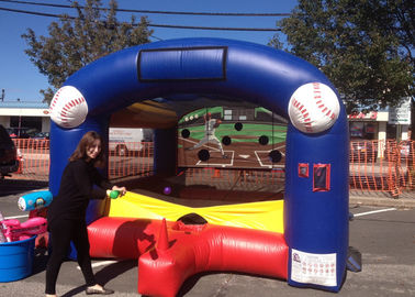 China Adults Kids Inflatable Sports Games / Target Inflatable Baseball Game With PVC supplier