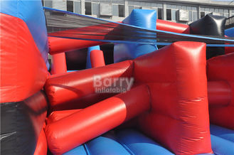 Hot Red 5K Insane Inflatable Obstacle Course For Running Race , Sling Shot 5K Course supplier
