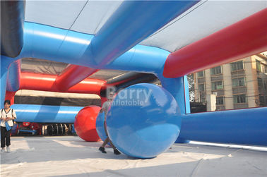 Custom Made Big Event Insane 5k Inflatable Obstacle Course Big Balls For Adults And Kids supplier