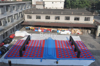 Inflatable Obstacle Race , Inflatables 5k Obstacle Mattress Run Size 20x10x1.2M supplier