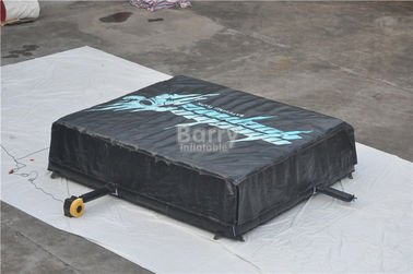 Black Inflatable Jump Air Bag For Skiing , Inflatable Jumping Pad Size 5.1x6.1x1.4M supplier