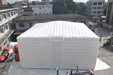 White 15x15M Inflatable Tent , Custom Made Led Inflatable Party Tent Cube For Event supplier