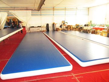 Outdoor Inflatable Air Track Gymnastics Mat / Inflatable Bouncing Mat Customized supplier
